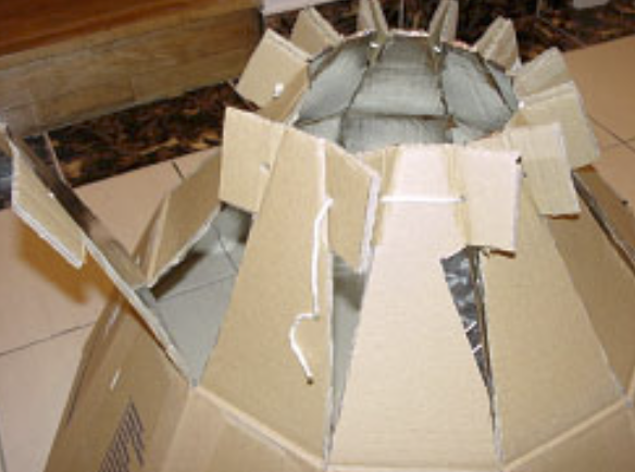 Cardboard solar concentrator (type of solar cooker) Capture d e cran 2018-06-21 a 00.50.57.png